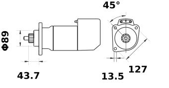 Стартер AZK5189 (IS9030) - схема
