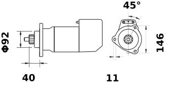 Стартер AZK5198 (IS9033) - схема