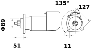 Стартер AZK5428 (IS9065) - схема