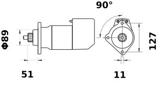 Стартер AZK5440 (IS9079) - схема