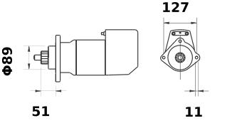 Стартер AZK5442 (IS9081) - схема