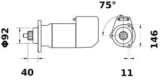 Стартер AZK5453 (IS9093) - схема