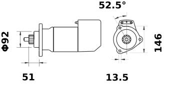 Стартер AZK5456 (IS9096) - схема