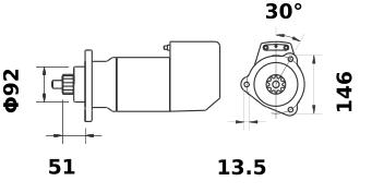 Стартер AZK5464 (IS9102) - схема