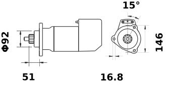Стартер AZK5465 (IS9103) - схема