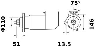 Стартер AZK5473 (IS9111) - схема