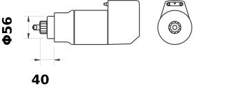 Стартер AZK5536 (MS 510, 11.139.129, IMS309129) - схема