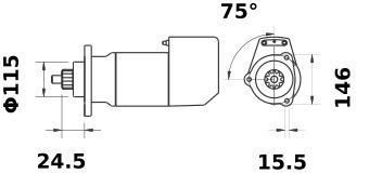 Стартер AZK5482 (IS9122) - схема
