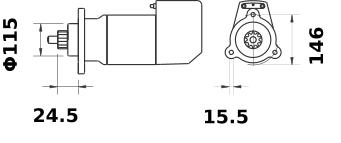 Стартер AZK5484 (IS9124) - схема