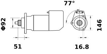 Стартер AZK5492 (IS9132) - схема