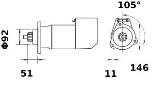 Стартер AZK5497 (IS9137) - схема