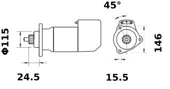 Стартер AZK3401 (IS9140) - схема