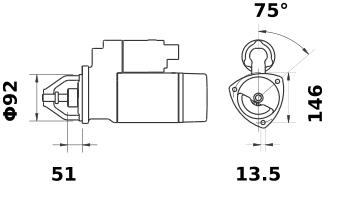 Стартер AZJ3439 (IS9143) - схема