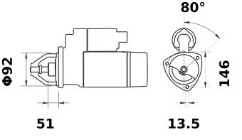 Стартер AZJ3440 (IS9144) - схема