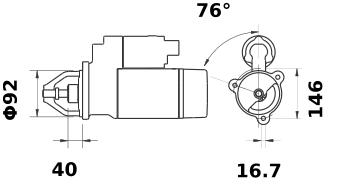 Стартер AZJ3441 (IS9145) - схема