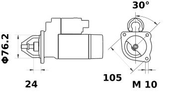 Стартер AZE2198 (IS9308) - схема