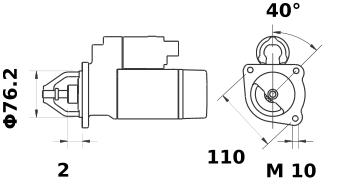 Стартер AZE2182 (IS9309) - схема