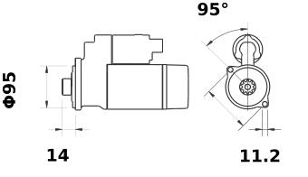 Стартер AZE4634 (IS9319) - схема