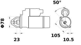 Стартер AZE2169 (IS9334) - схема