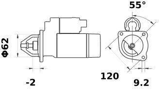 Стартер AZD3515 (MS 40, 11.139.404, IMS309404) - схема