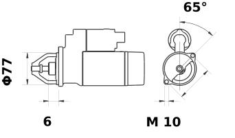 Стартер AZE4635 (IS9407) - схема