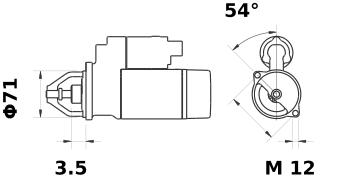 Стартер AZD3521 (IS9414) - схема