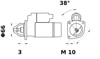 Стартер AZD3523 (IS9416) - схема