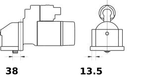 Стартер AZE2226 (IS9418) - схема
