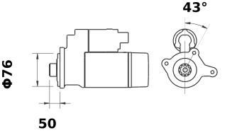 Стартер AZE4639 (IS9420) - схема