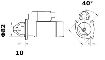 Стартер AZE2196 (IS9421) - схема