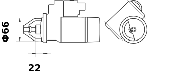 Стартер AZE2197 (IS9422) - схема