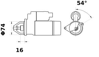 Стартер AZE1242 (IS9423) - схема