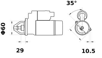 Стартер AZE2199 (IS9424) - схема