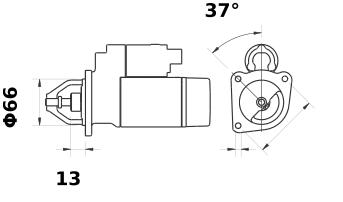Стартер AZE2204 (IS9426) - схема