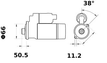 Стартер AZE2665 (IS9432) - схема