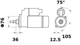 Стартер AZE1243 (IS9433) - схема