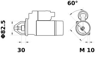 Стартер AZE4140 (IS9434) - схема