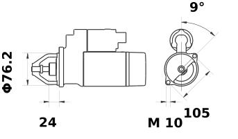 Стартер AZE2210 (IS9439) - схема