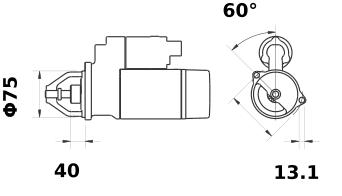 Стартер AZE2211 (IS9440) - схема
