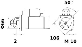 Стартер AZE1244 (IS9441) - схема