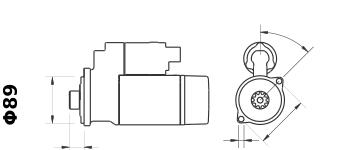 Стартер AZE4675 (IS9451) - схема