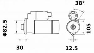 Стартер AZE2683 (IS1430) - схема