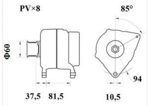 Генератор AAN5407 (MG 811, 11.209.618, IMA309618) - схема