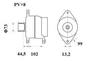 Генератор AAN5411 (MG 815, 11.209.622, IMA309622) - схема
