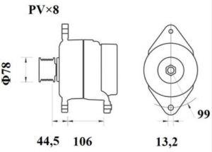Генератор AAN5413 (MG 817, 11.209.624, IMA309624) - схема