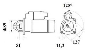 Стартер AZF4402 (IS9453) - схема