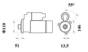 Стартер AZF4877 (IS9458) - схема