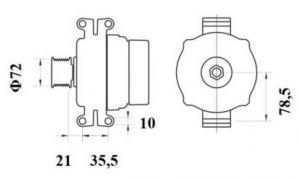 Генератор AAN5402 (MG 797, 11.209.613, IMA309613) - схема