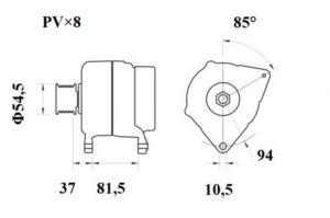 Генератор AAN5390 (MG 810, 11.209.601, IMA309601) - схема