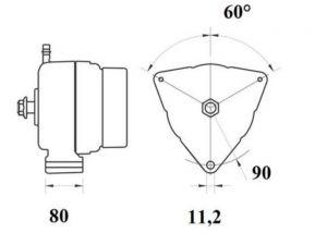 Генератор AAN5398 (MG 807, 11.209.610, IMA309610) - схема
